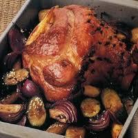 Roasted ham and veg