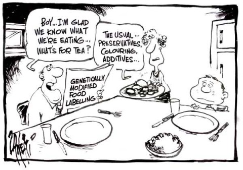 Processed food cartoon