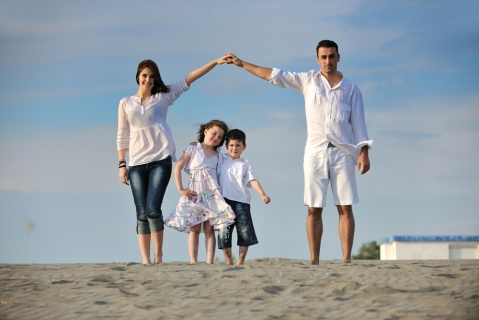 Happy-family-on-beach