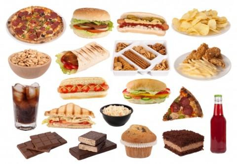 Junk-food-collage