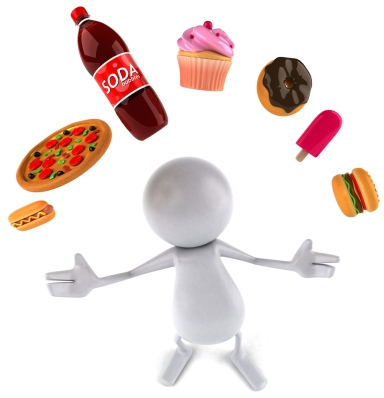 junk food, refined sugar, refined carbohydrate